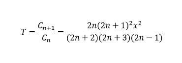 Рекуррентная формула. Множитель T. Член ряда. Двадцатый вариант. Циклы